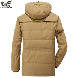 Brand Winter Jacket Men size 5XL 6XL Warm Thick Windbreaker High Quality Fleece Cotton-Padded Parkas Military Overcoat clothing - Starttech Online Market