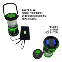 Load image into Gallery viewer, Tough Light 1000-LR Rechargeable LED Lantern (Green)