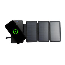 Load image into Gallery viewer, Tough Light 820W 3 Panel USB Solar Power Bank Charger - 20,000mAh Li Polymer with WIRELESS Phone Charging - 2AMP High Speed Cable Included