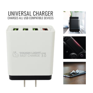 Tough Light USB Quick Wall Charger Fast Charge 3.0 Adaptive 18W