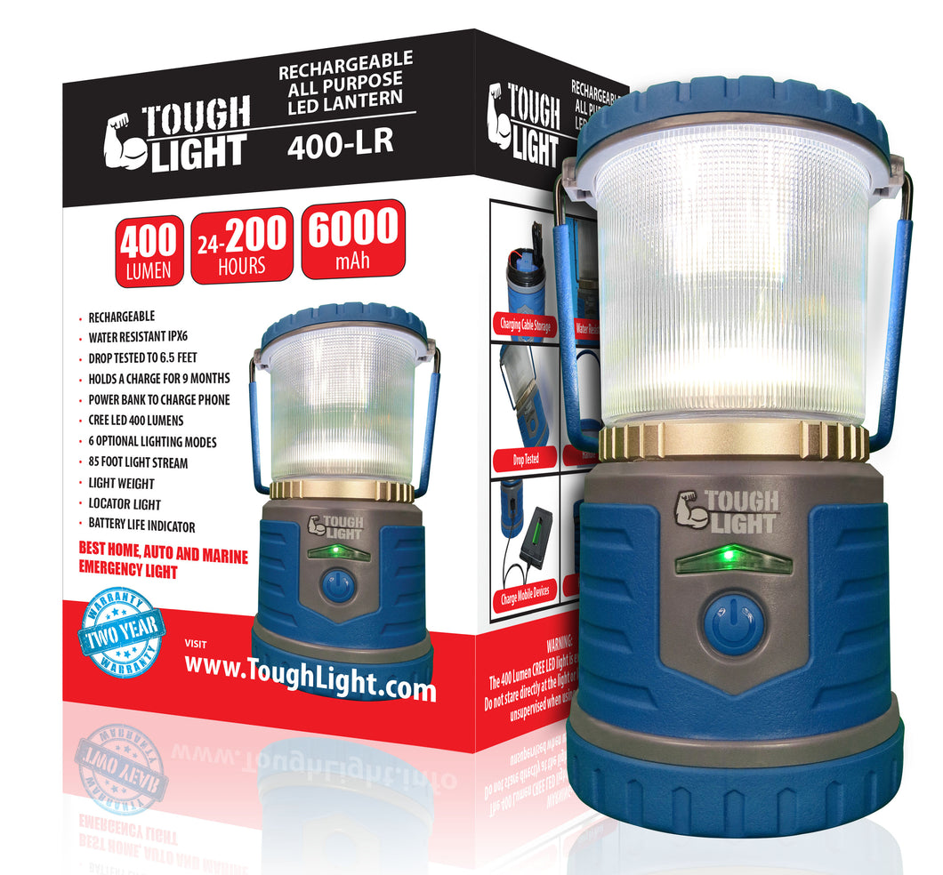 Tough Light 400-LR Rechargeable LED Lantern (Blue)