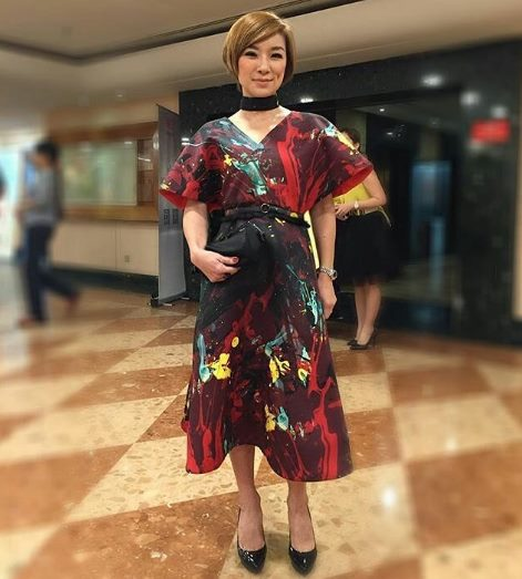 Angel Wong in Melinda Looi Ready-To-Wear AW16