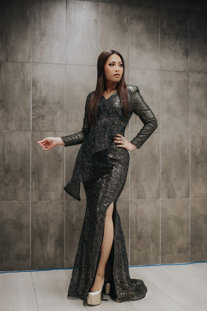 Janna Nick in Melinda Looi Couture for Anugerah MeleTOP Era 2019