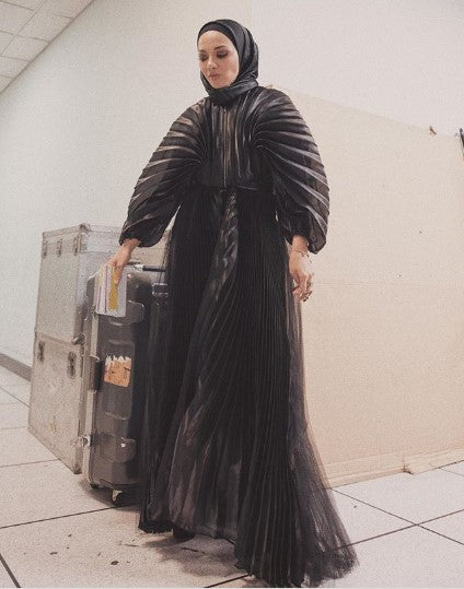 Neelofa in Melinda Looi Couture for MELETOP TV Programme