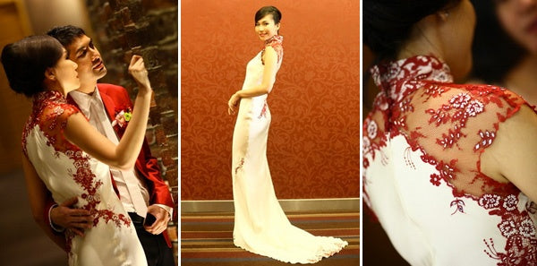 Beautiful Wong Sze Zen in Melinda Looi Couture