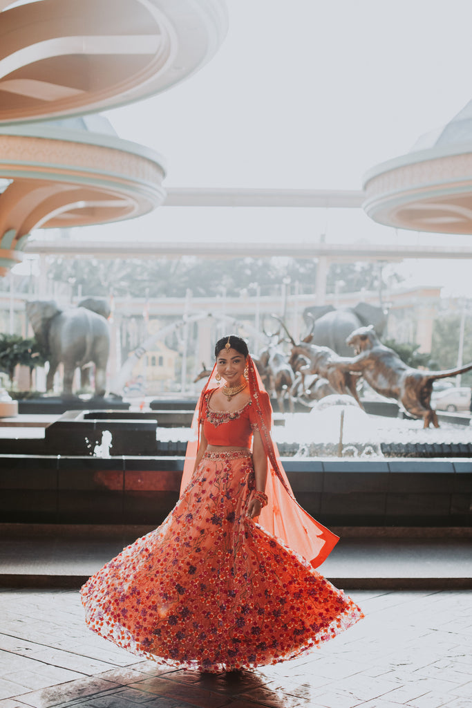 Mary Dass in Melinda Looi Couture Bridal lehenga