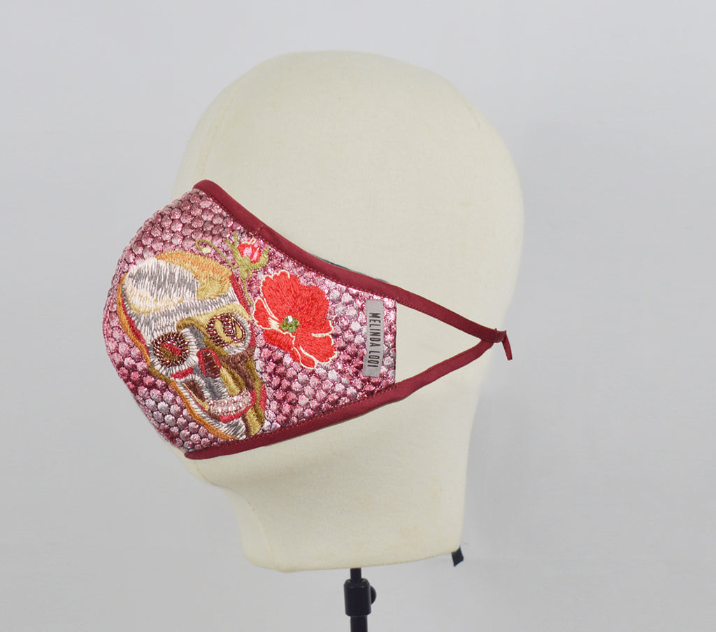 Melinda - 5 Layer Mask (Limited Edition) - Maroon - F