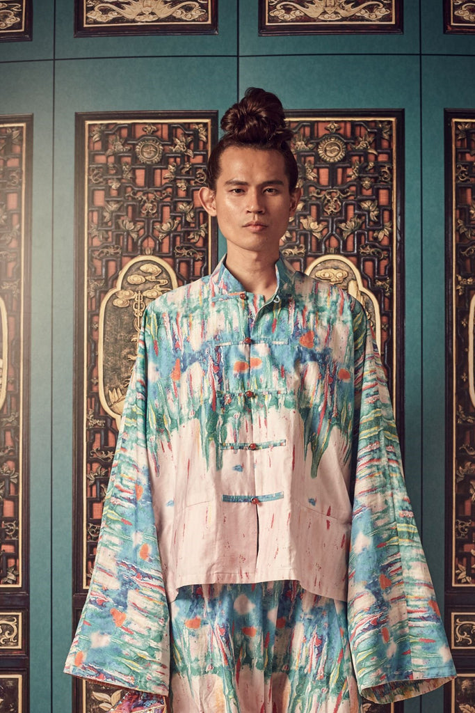 PRINTED PULUT TAI TAI - MEN'S SAMFU TOP - PRINT - Melinda Looi - Official Website