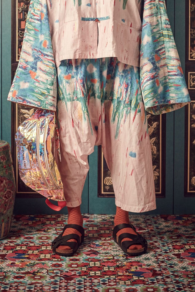 PRINTED PULUT TAI TAI - MEN'S SAMFU TROUSERS - PRINT - Melinda Looi - Official Website