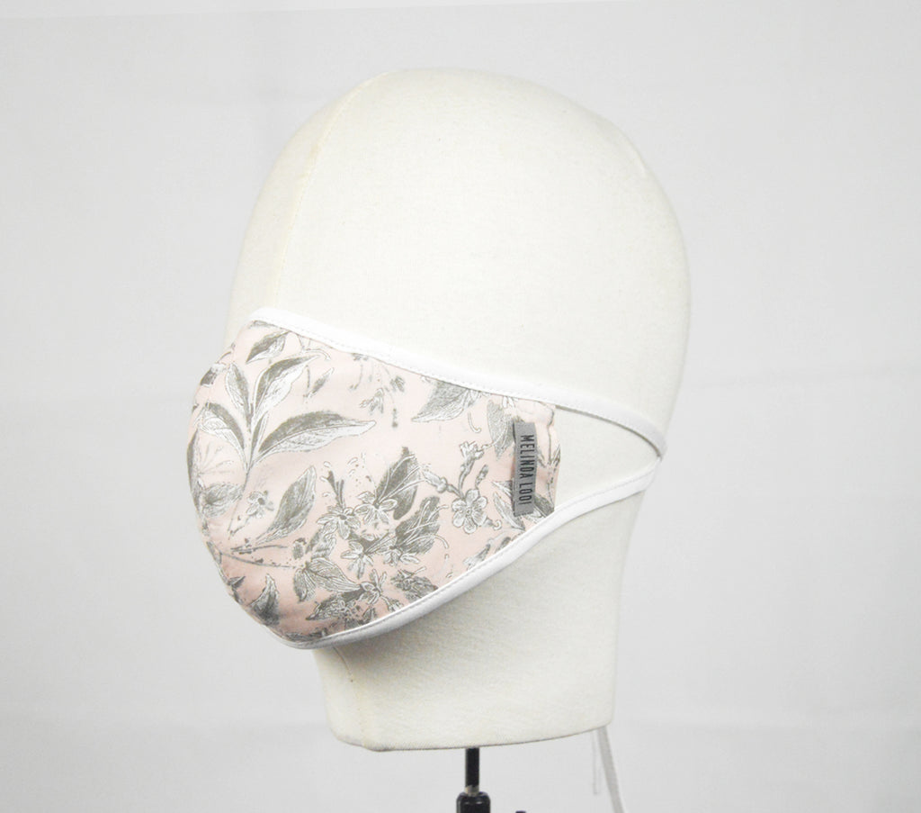L. Seah - 5 Layer Mask With Ear Loop - Peach - F