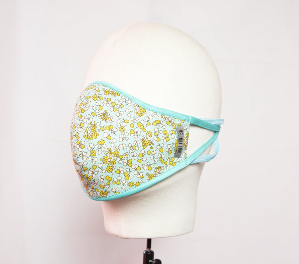 Jay - 5 Layer Mask With Ear Loop - Teal - F