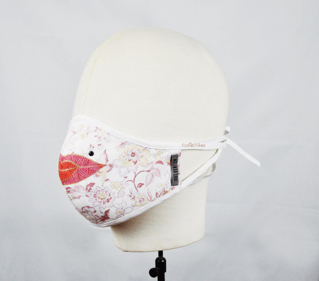 Kirthiga - 5 Layer Mask with Ear Loop (Limited Edition/Hand Painted Cotton Mask) - Multi - F