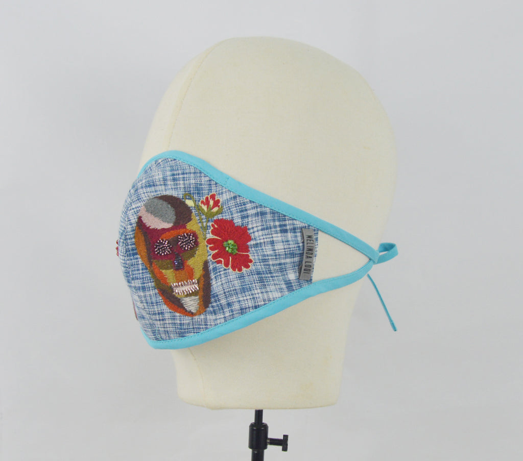 Melinda - 5 Layer Mask (Limited Edition) - Blue - F