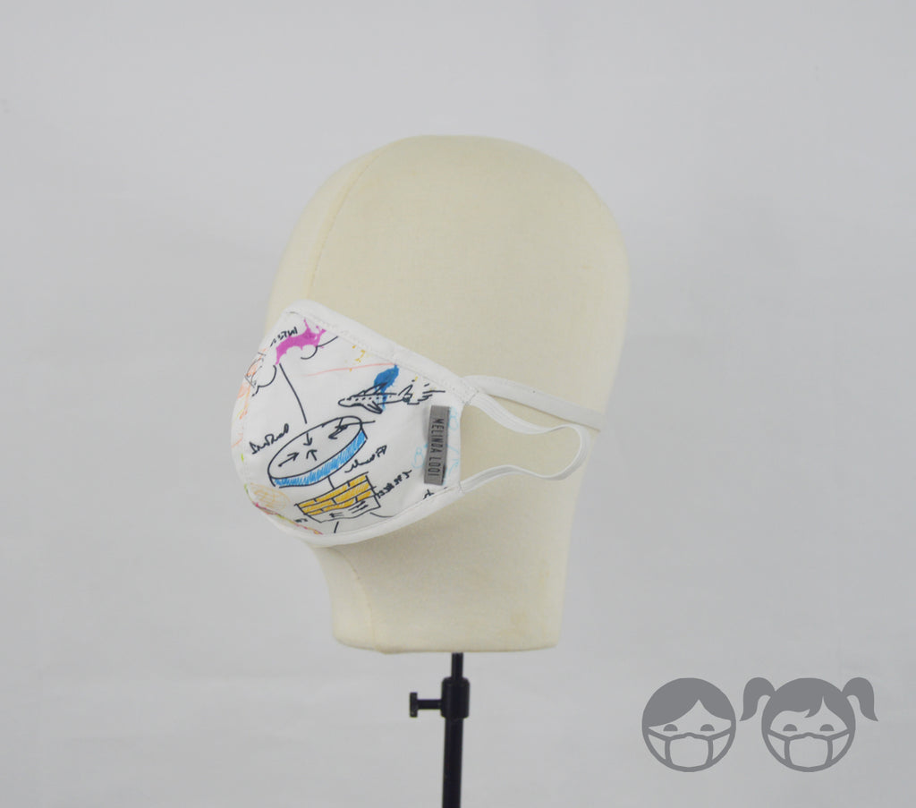 KK (Kids) - 5 Layer Mask (Limited Edition) - Multi - S