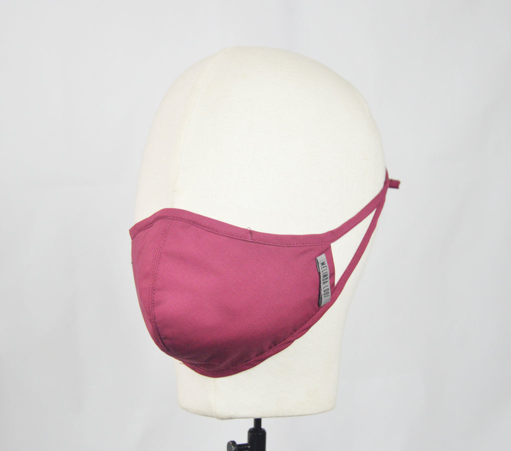 Marizza - 5 Layer Mask - Maroon - F