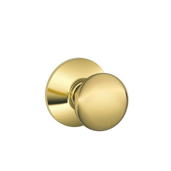 Schlage Plymouth Bright Brass Passage/Hall and Closet Knob - The Liquidation Club