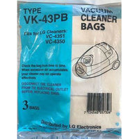 6 x Vacuum Cleaner Bags for LG VC-4351/VC-4350