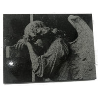 Angel laser engrave granite stone