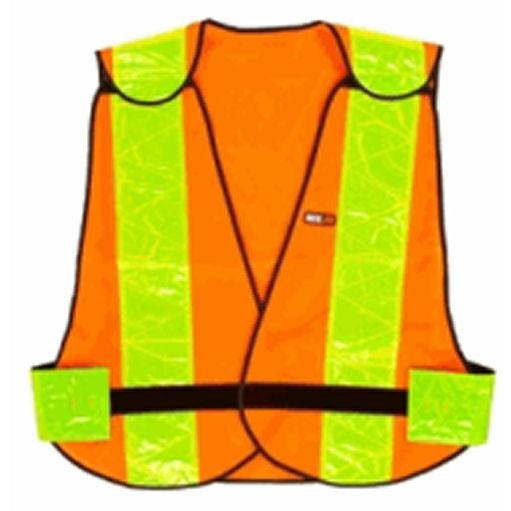 Safety sleeveless vest with reflect stripe