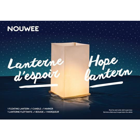 3 x Water floating Hope Lantern Nouwee