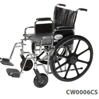 "Cardinal Wheelchair 500lb Capacity 22x18"" Chrome"