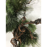 Christmas fir & pine garland natural look with pinecone
