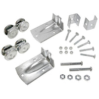 Concept Sga Wheel Kit for Barn Doors - Galvanized Steel BARN-6