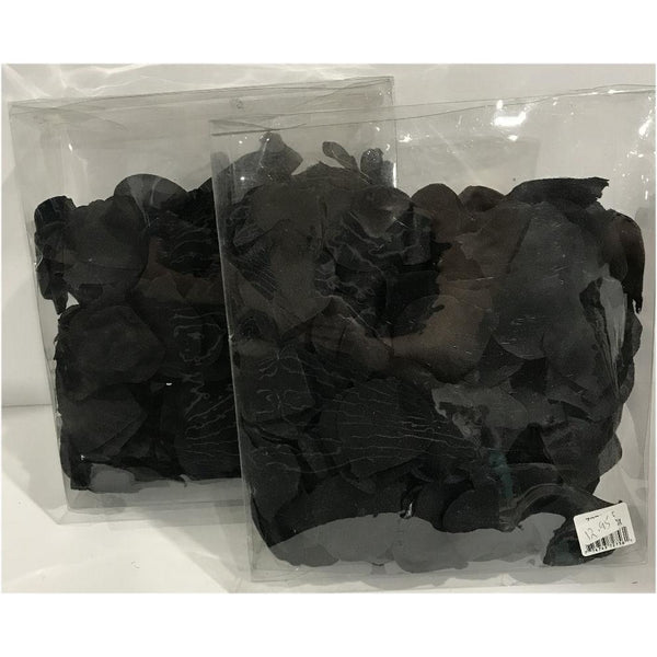 Lot of 2 Silk Black Petals bag