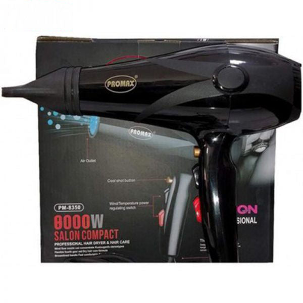 Professionnel Hair-Dry-PROmax 8000watts-compact-ion