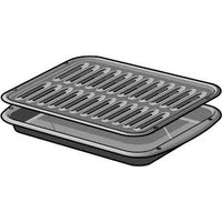 Grill, broil pan +Tray for Broiler Pan for Thermador PRG366WH