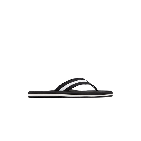 Men Black & White Fashion Flip-flop