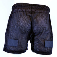 Men Mesh Shorts with Pelvic Protector