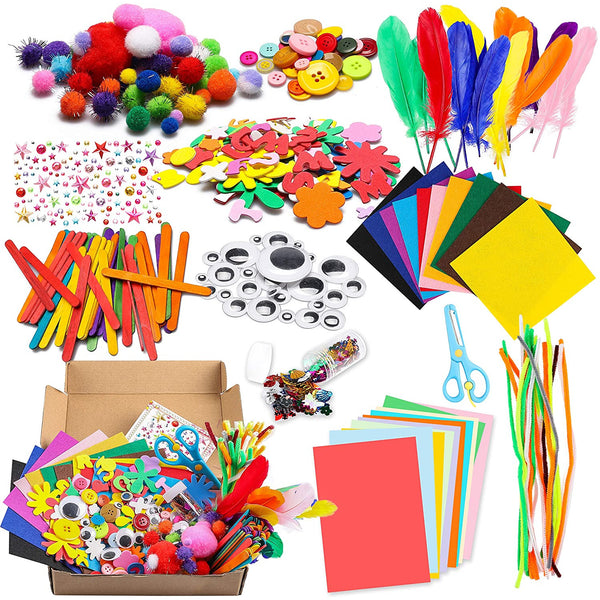WATINC 1000Pcs DIY Art Craft Kit for Kids Creative