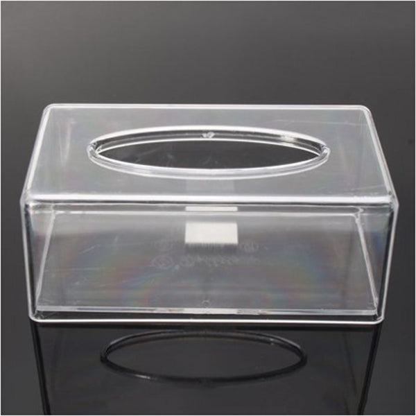 Tissue Box Cover Rectangle, Modern Clear Acrylic