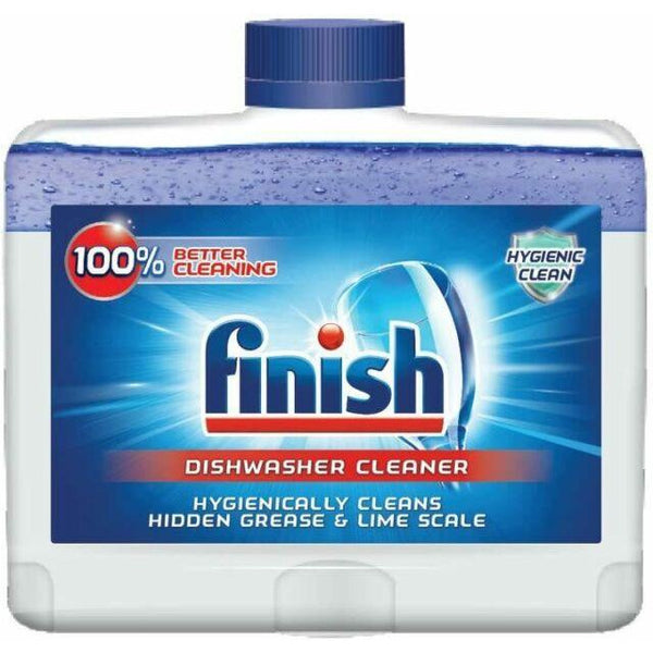 Lot of 8 x Finish Dual Action Dishwasher Cleaner, Original, 250 ml