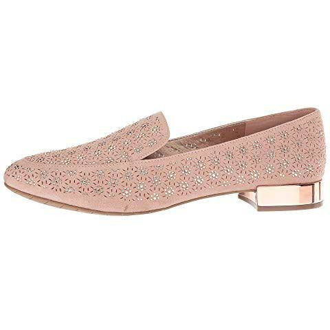 Kenneth Cole REACTION Women's Jet Time Slip on Loafer with Metallic Heel Flat- Pink