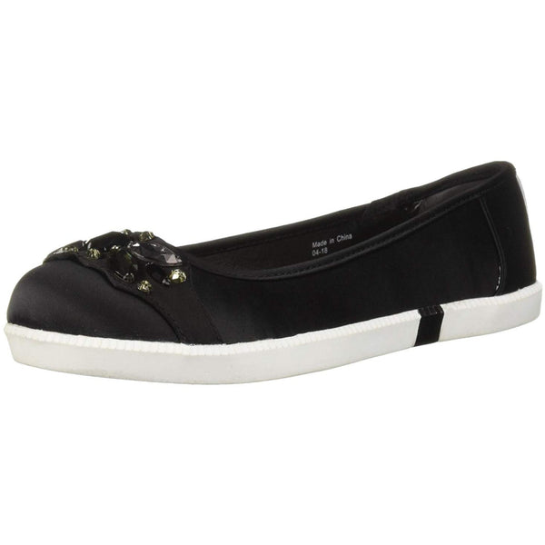 Kenneth Cole Femmes Row-ing 2 Skimmer Flat with Jewels Ballet - Black