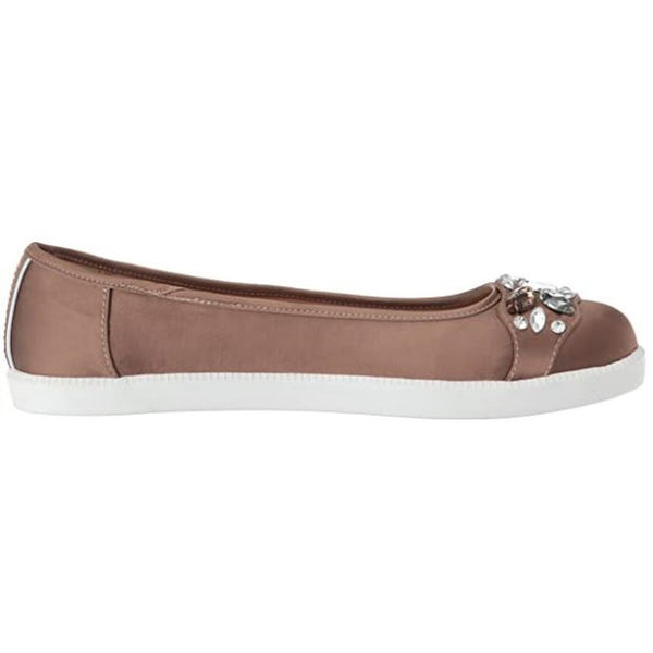 Kenneth Cole Femme Row-ing 2 Skimmer Flat with Jewels Ballet - Vison