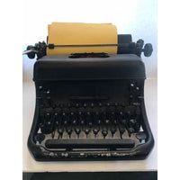 Remington Rand KMC Vintage Black Cast Iron Manual Typewriter
