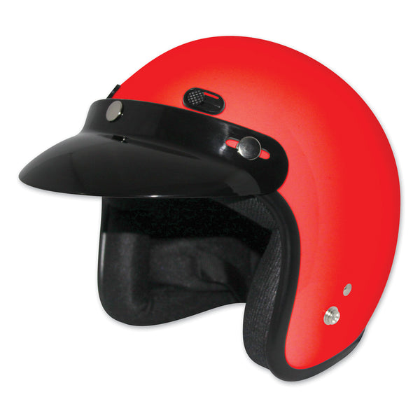 Zox Classic Junior Gloss Red Open Face Helmet - The Liquidation Club