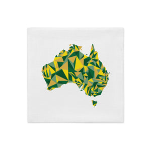 Australia Evergreen Gold Throw Pillow Cover