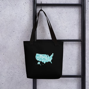 United States Winter Crystal Tote Bag