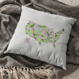 United States Spring Bloom Throw Pillow Cover