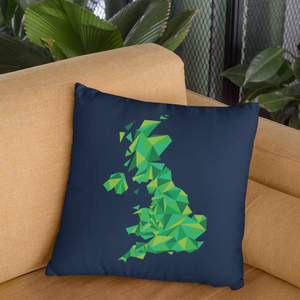 United Kingdom Emerald Forest Throw Pillow Cover