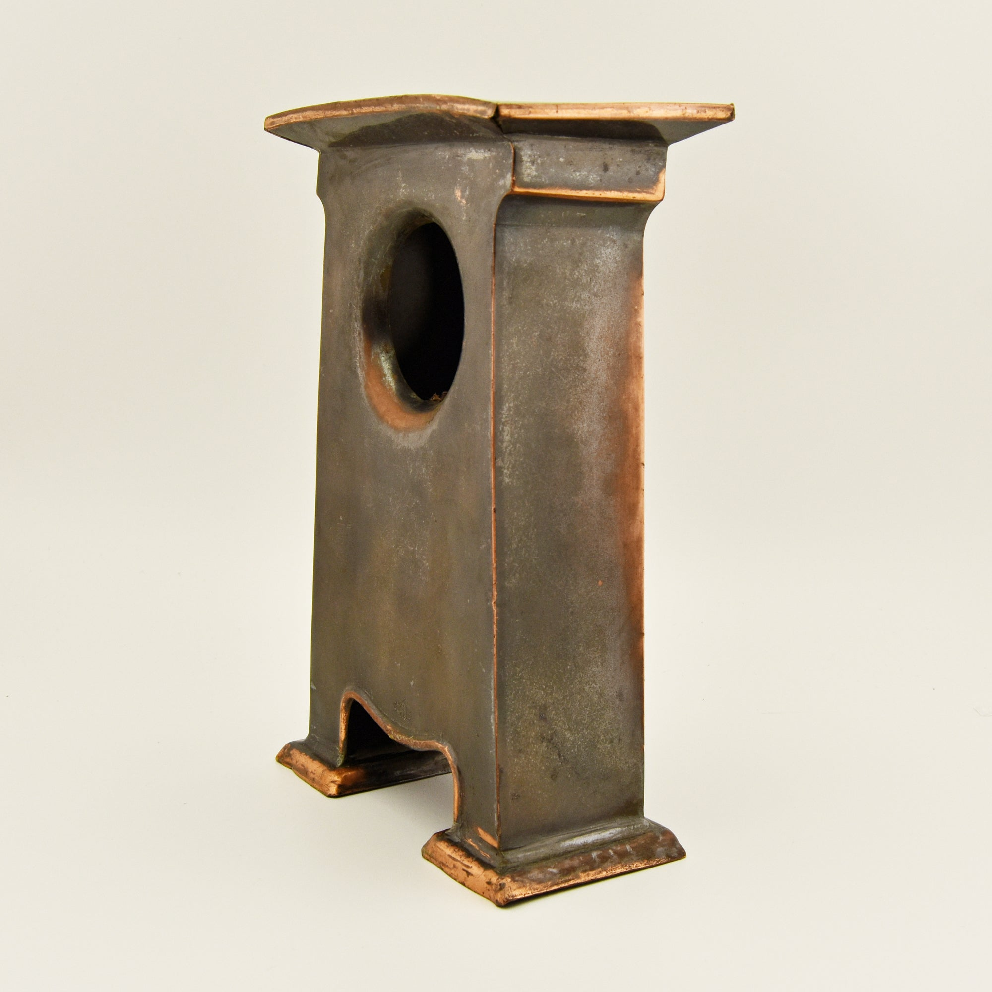ART NOVEAU COPPER CLOCK CASE