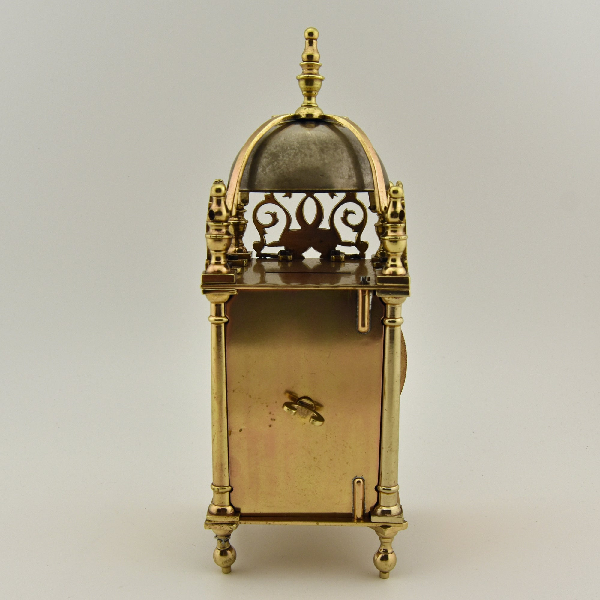 1940s Brass lantern clock case with new quartz movement