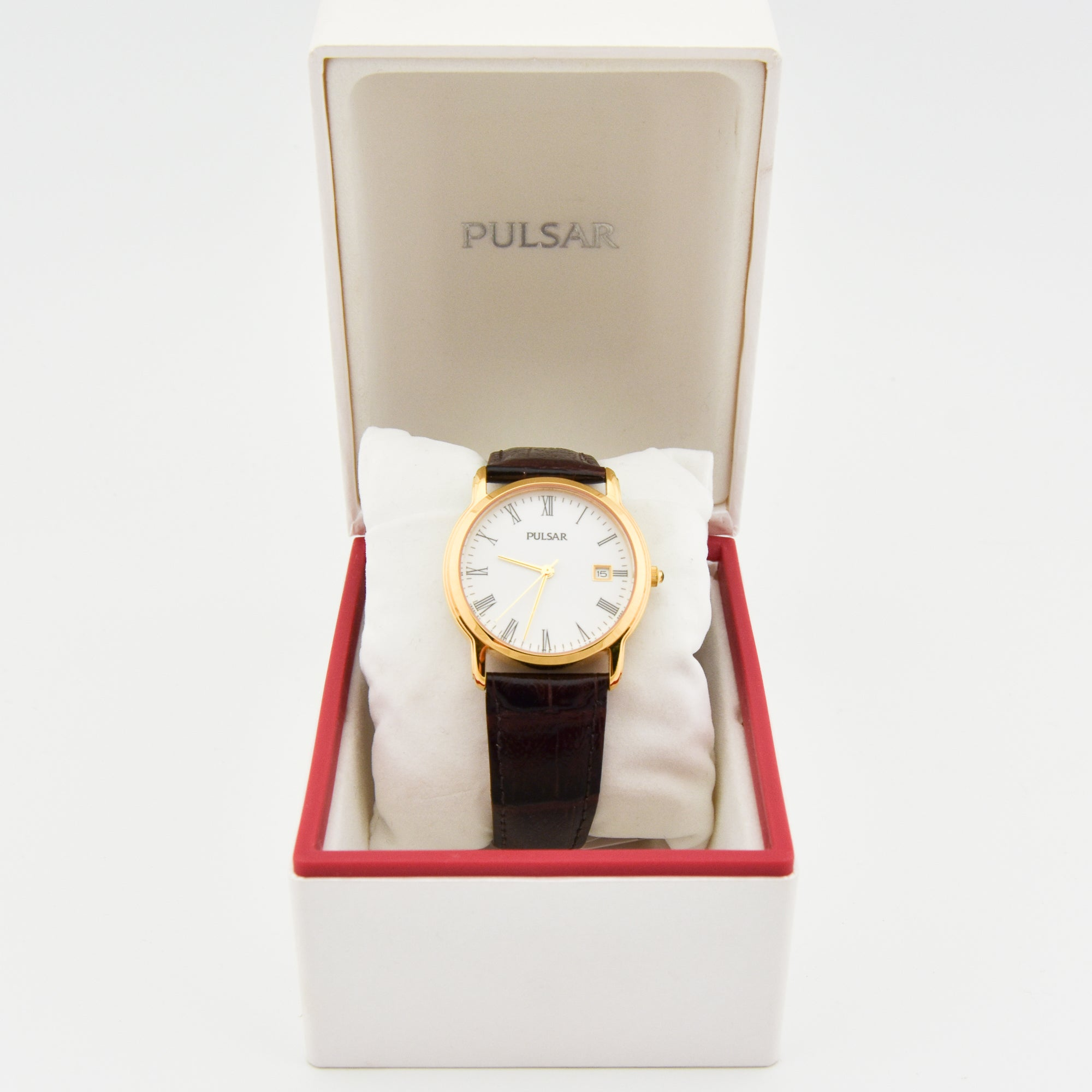 PULSAR QUARTZ NEW OLD STOCK WRIST WATCH WITH DATE