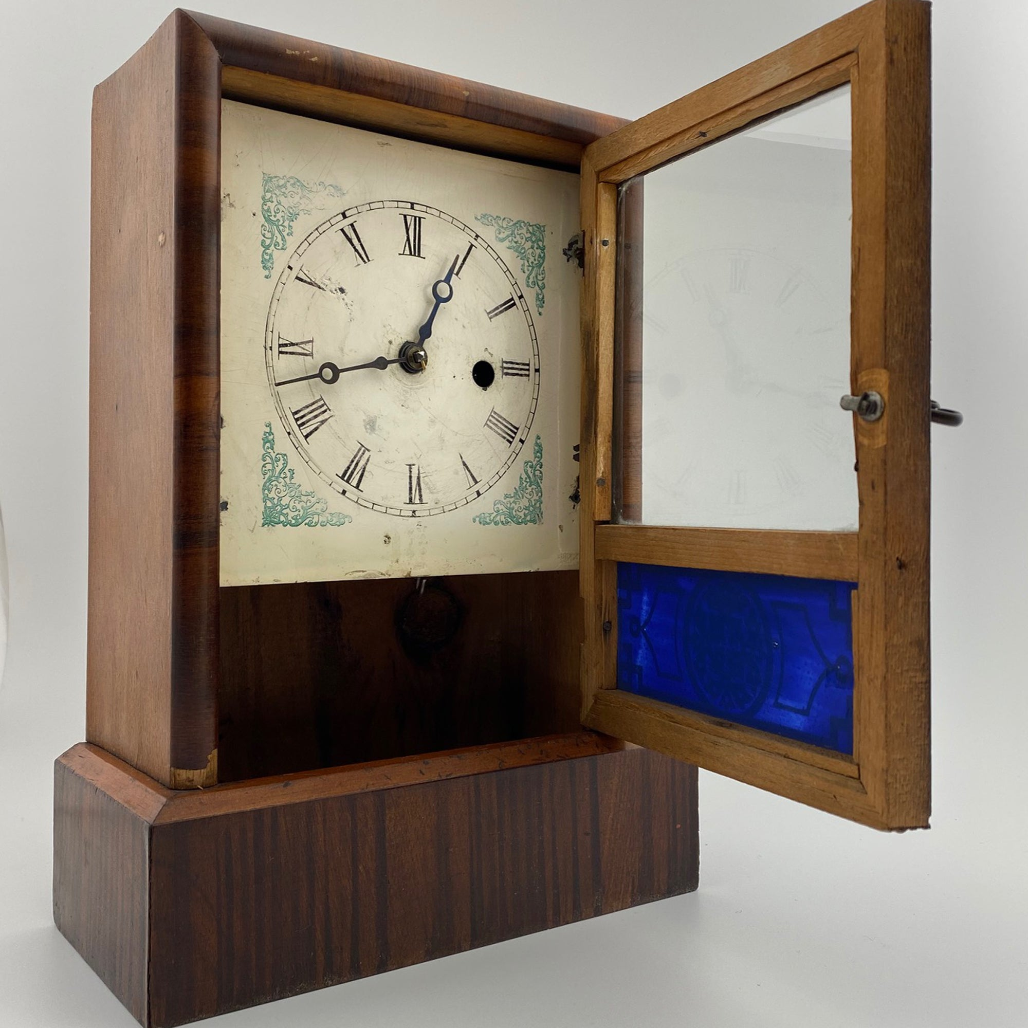 1880s Rosewood 30 Hour Shelf Clock retailed by J. E. Piper, Launceston