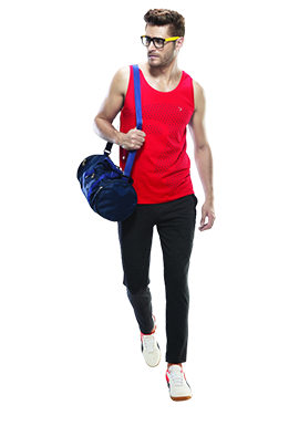Buy Red Gym Vests For Men Online