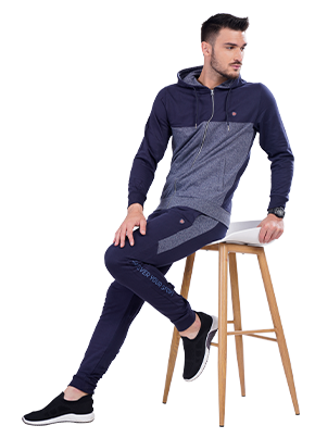 Buy Hoodie Jacket For Men In Navy Colour Online